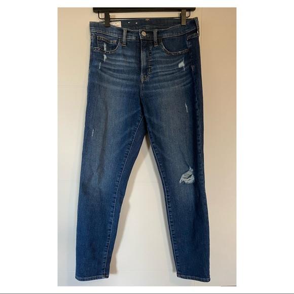 Excellent condition dark distressed Gap jeans